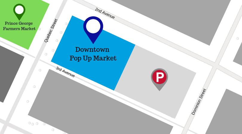 Pop Up Market Find Us Map